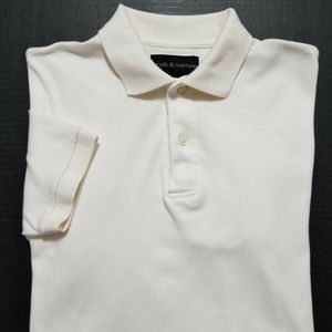CROFT & BARROW Mens Ivory Polo Shirt
